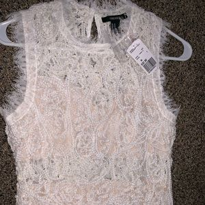Brand new white lace cocktail/bridal dress! Size M